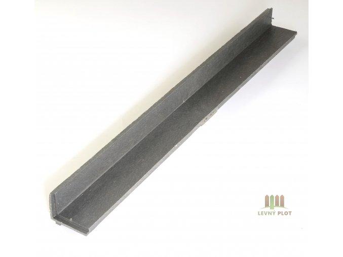 Recyklát lemovací obrubník 110x115,1,2 m šedý