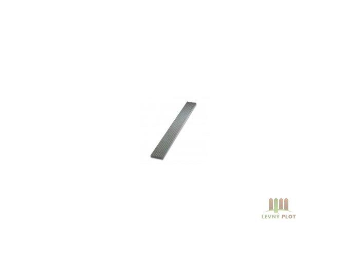 Recyklátová deska teras.rýhovaná 1500x140x30 mm, šedá