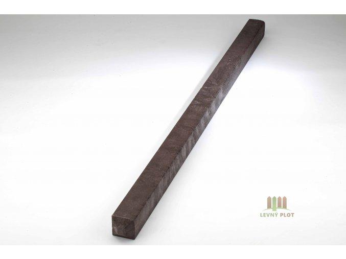 Recyklátový hranol 92x92 mm,2 m,diamant.hnědý