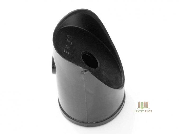 Úchyt vzpěry PVC 38 mm, černá