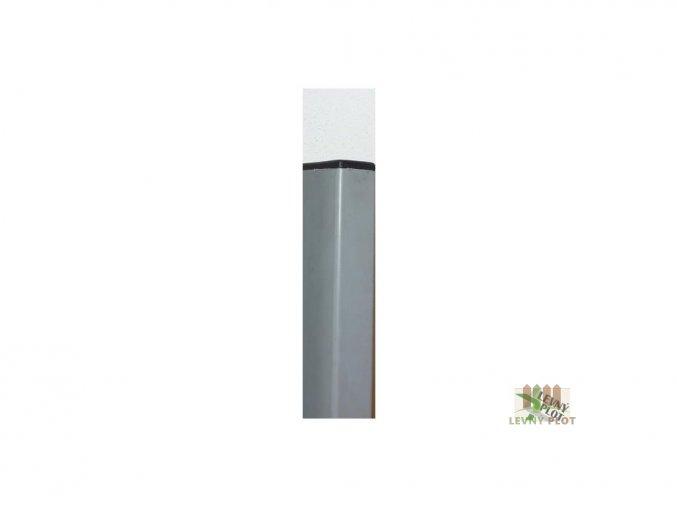 Sloupek DAMIPLAST® 60/60/1,5/2400 Zn+ PVC šedý  vč. krytky