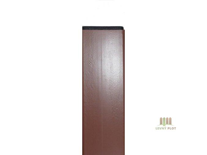 Sloupek DAMIPLAST® 60/60/1,5/6000 Zn+PVC hnědý