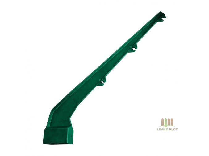 Bavolet AL+PVC 1-str. pro sloupek 60x40 mm, zelený