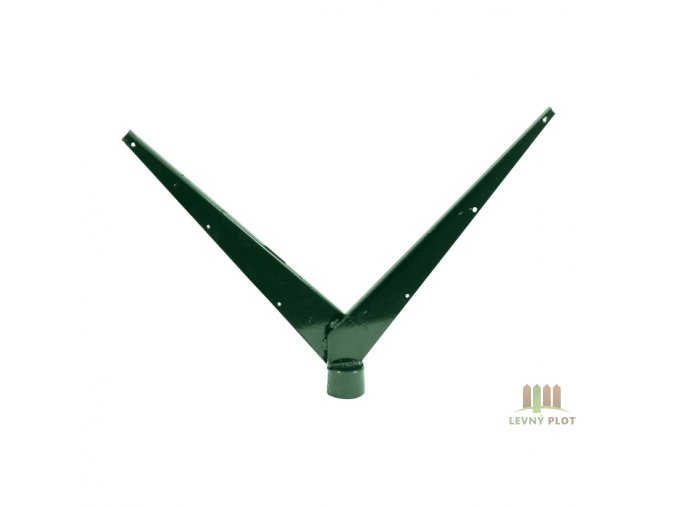 Bavolet Zn+PVC 2-str. pro sloupek 48 mm