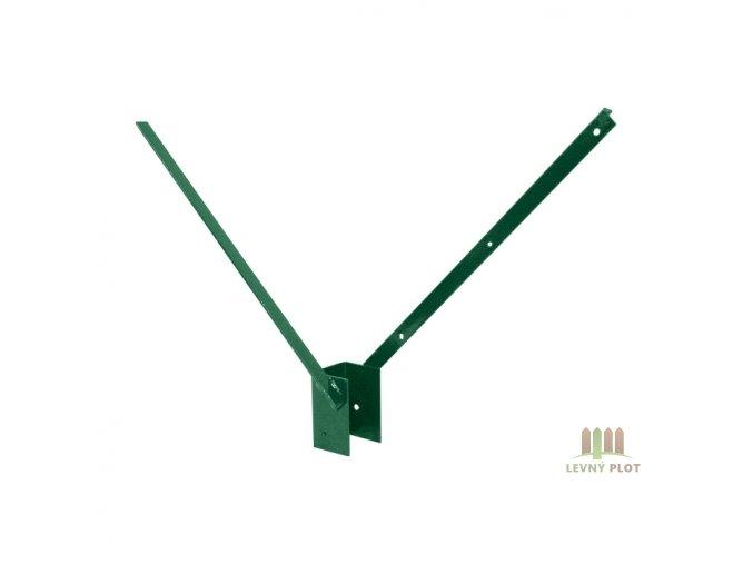 Bavolet Zn+PVC 2-str. pro sloupek 60x40 mm