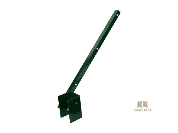 Bavolet Zn+PVC 1-str. pro sloupek vnitřní 60x60 mm