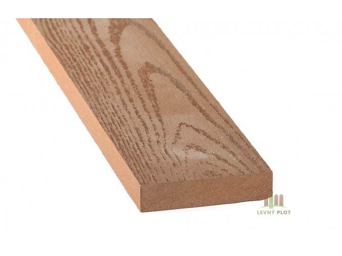 DAMIWPC plotovka 70x15x4030 mm, tmavé dřevo broušené