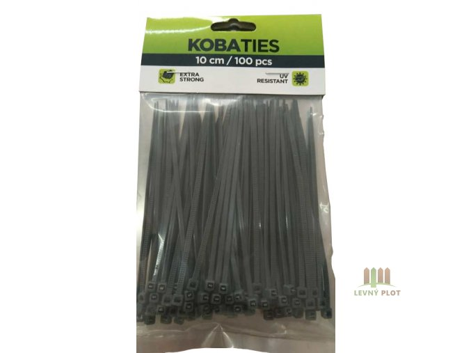 Vázací pásky barva antracit, délka 100 mm, 100 ks v balení