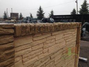 Betonová stříška koncová na sloupek přírodní