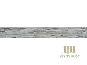 Betonový panel rovný jednostranný 200x25x4 cm - štípaný kámen - přírodní