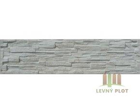 Betonový panel rovný jednostranný 200x50x4 cm - štípaný kámen - přírodní