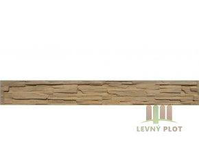 Betonový panel rovný oboustranný štípaný kámen 200 x 25 x 4 cm - pískovec