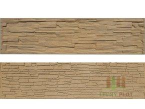 Betonový panel rovný oboustranný štípaný kámen 200 x 50 x 4 cm - pískovec