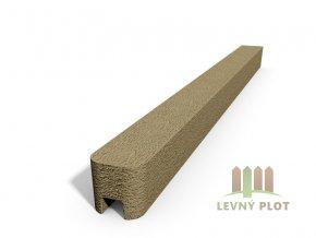 Betonový sloupek hladký koncový pískovec  150 cm