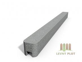 Betonový sloupek hladký koncový přírodní  100 cm