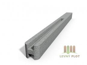 Betonový sloupek hladký průběžný přírodní  175 cm