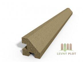 Betonový sloupek hladký rohový pískovec  175 cm