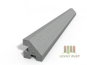 Betonový sloupek hladký rohový přírodní  200 cm