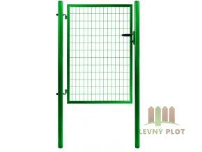 Branka SOLID š. 1073 mm x v. dle výběru, dózický zámek Zn+PVC zelená (Výška v mm: 1950 mm)