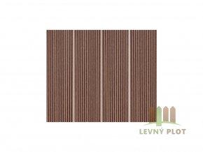 Dřevoplast WPC drážkovaná rovná 100x10x délka dle výběru, barva palisandr (barva: palisandr, délka: 2900 mm)