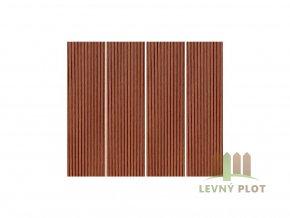 Dřevoplast WPC drážkovaná rovná 100x10x délka dle výběru, barva zlatý dub
