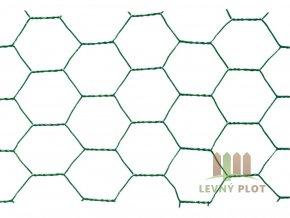 Chovatelské šestihranné pletivo Zn+PVC 16/1000 - bm