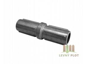 Nádstavec pro sloupek 48 mm, stříbrný