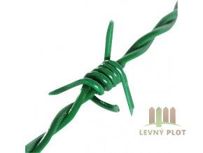 Ostnatý drát Zn+PVC 50 m