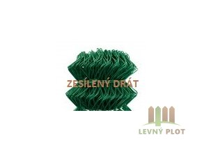 Pletivo IDEAL PVC SUPER, výška 1000mm, bez zapleteného drátu, barva zelená, balení 25m
