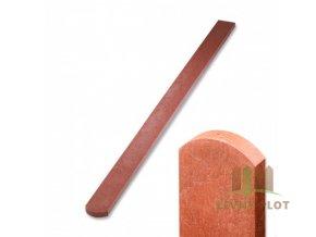 Plotovka recyklát cihlová půlkulatá 21x78 mm x různé délky (Délka v mm: 1500 mm)