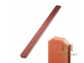 Plotovka recyklát cihlová tříhranná 21x78 mm x různé délky (Délka v mm: 1500 mm)