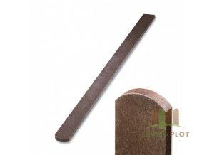 Plotovka recyklát hnědá půlkulatá 21x78 mm x různé délky (Délka v mm: 2000 mm)