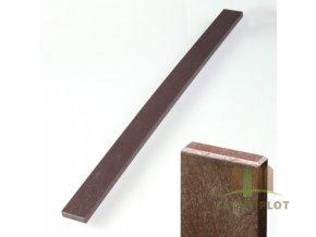 Plotovka recyklát hnědá rovná 21x78 mm x různé délky (Délka v mm: 1980 mm)
