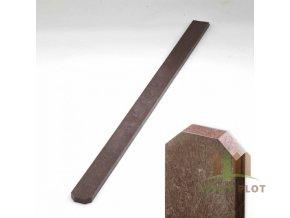 Plotovka recyklát hnědá tříhranná 21x78 mm x různé délky (Délka v mm: 2000 mm)