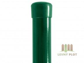 Plotový sloupek 48/2,0 mm zelený vč.čepičky (Délka v mm: 3000)