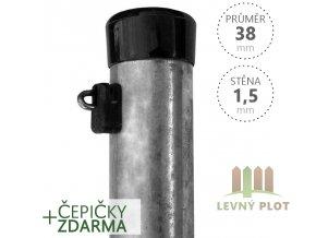 Plotový sloupek zinkovaný, průměr 38mm, síla stěny 1,25mm, výška dle výběru