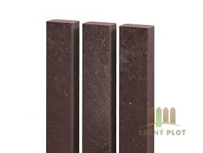Recyklát plotovka 50x30 mm,různé délky, hnědá (Délka v mm: 2000 mm)