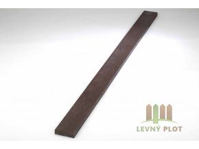 Recyklát prkno lavičkové 120x40 mm ,1 m, hnědé