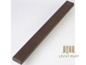 Recyklát prkno lavičkové 120x50 mm,2 m, hnědé