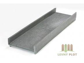 Recyklát záhonový chodník 360x115, 1,2m, šedý