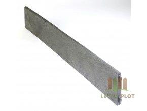Recyklát zahradní obrubník 180x30, 1,2m, šedá