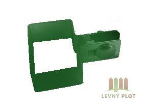 Úchyt panelu ke sloupku 60x40 mm koncový zelený2