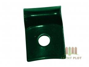 Úchyt panelu Light na KS kovový koncový Zn+PVC vč. texu