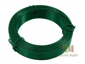 Vázací drát PVC 1,0/1,40 mm,50m, zelený