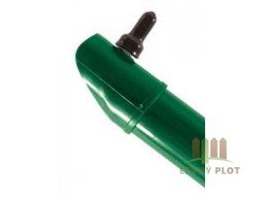 Vzpěra DAMIPLAST® zelená Zn+PVC vč. úchytu, průměr 42mm, síla stěny 1,5mm, různé délky