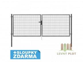 Brána Pilofor Super šířka 4118mm, svařovaný panel 50x200mm, FAB, zinek