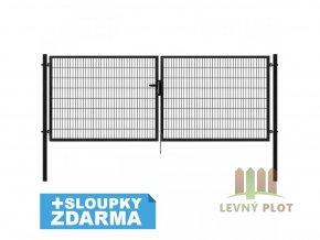 Brána Pilofor Super šířka 4138mm, svařovaný panel 50x200mm, FAB, antracit