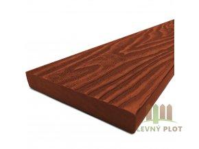 Dřevoplast WPC Premium rovná 85x13, červenohnědá