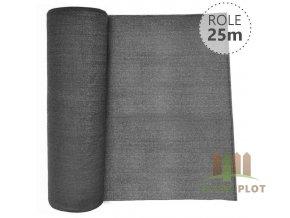 Stínící tkanina 90% - 130 g/m2 - role 25 m, barva ANTRACIT