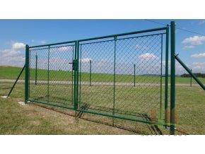 Zahradní brána celovýplet š.3600 mm x v. dle výběru-příprava na FAB vč. sloupků (Výška v mm: 2000)